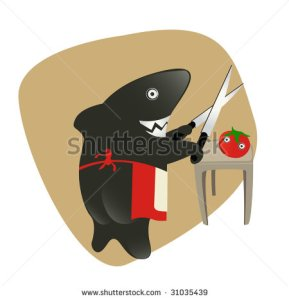 stock-vector-shark-sharpening-the-knifes-for-eating-a-tomato-sharky-shark-in-the-kitchen-31035439